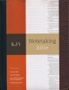 KJV Notetaking Bible, Black Brown Bonded Leather