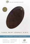 ESV Large Print Compact Brown Classic Frame Design, Trutone