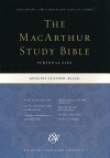 ESV MacArthur Study Bible, Personal Size, Black Genuine Leather