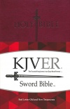 KJVer (Easy Reader) Personal Size Sword Value Thinline Bible, Burgundy Ultrasoft