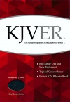 KJVer (Easy Reader) Personal Size Thinline Bible, Genuine Black Leather