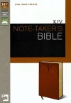 KJV Note Takers Bible, Caramel Italian Duo-Tone