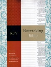 KJV Notetaking Blue Floral Cloth Bonded Leather Bible