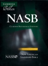 NASB Clarion Reference, Black Calf-Split Leather