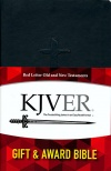 KJVER Gift and Award Thinline Personal Size, (GAB) Black Imitation Leather
