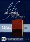 KJV Life Application Study Bible, Large Print Brown/Tan TuTone