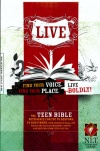 NLT Live Deluxe Teen Bible, Charcoal Sketch Leatherlike Edition