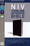 NIV Comfort Print Thinline Reference Bible, Black Bonded Leather
