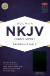 NKJV Giant Print Reference, Black Imitation Leather, Thumb Indexed