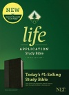 NLT Life Application Study Bible, Third Edition, Leather look, Black/Onyx