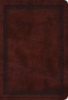 ESV Value Large Print Compact, TruTone Mahogany with Border Design