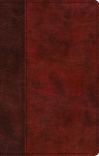 ESV Large Print Thinline Bible, Burgundy/Red, TruTone