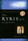 KJV Ryrie Study Bible Black Genuine Leather, Red Letter Edition