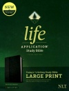NLT Life Application Large-Print Study Bible, Third Edition Black/Onyx, Leatherlike