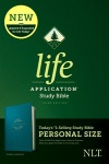 NLT Life Application Personal-Size Study Bible, Teal Leatherlike