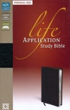 NIV Life Application Study Bible, Black Bonded Leather, Personal Size