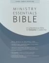 KJV Ministry Essentials Bible, Black Genuine Leather