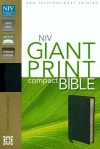 NIV Compact Bible, Giant Print, Ebony Premium Leather