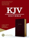 KJV Large Print Compact Reference, Burgundy Leathertouch