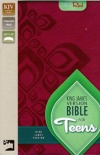 KJV - Bible for Teens, Italian Duo-Tone, Razzleberry