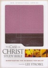 NIV - Case for Christ Study Bible, Berry Creme/Chocolate