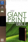 NIV - Compact Bible, Giant Print, Black Bonded Leather