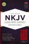 NKJV - Large Print Compact Reference Bible, Pink