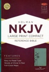NKJV - Large Print Compact Reference Bible, Teal
