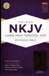 NKJV - Large Print Personal Size Reference Bible, Charcoal