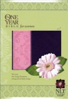 NLT One Year Bible for Women, TuTone Mocha & Coral