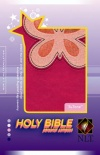 NLT Personal Compact Bible - Magenta / Pink Butterfly TuTone