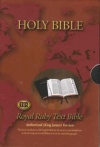 KJV - Royal Ruby Text Bible, Calfskin Leather with Thumb Index