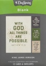 Blank Cards - With God All Things are Possible - KJV (Box of 12)