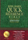 KJV Quick Reference Bible Large Print - Hardback - Black