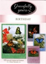 Birthday Cards - Boxed Set of 12 - Butterflies