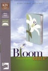 KJV Thinline Bloom Collection Compact Bible, White Lily