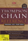 NKJV Thompson Chain Reference: Personal Size - Bonded Leather Black