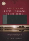 NKJV - Lucado Life Lessons Study Bible, Black / Grey Leathersoft